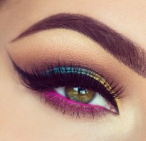Ombre Blue Yellow Pink Eyeshadow