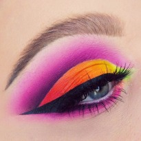 Ombre Pink Red Yellow Orange Smokey Eyeshadow Matte Eyeshadow