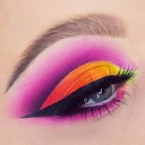 Ombre Pink Red Yellow Orange Smokey Eyeshadow Matte Eyeshadow