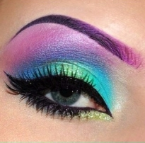 Ombre Rainbow Glossy Eyeshadow