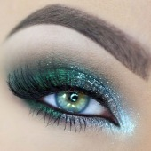 Shimmery Green Eye Shadow